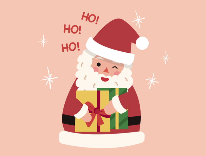 Santa-Gifts Christmas illustration examples that look amazing