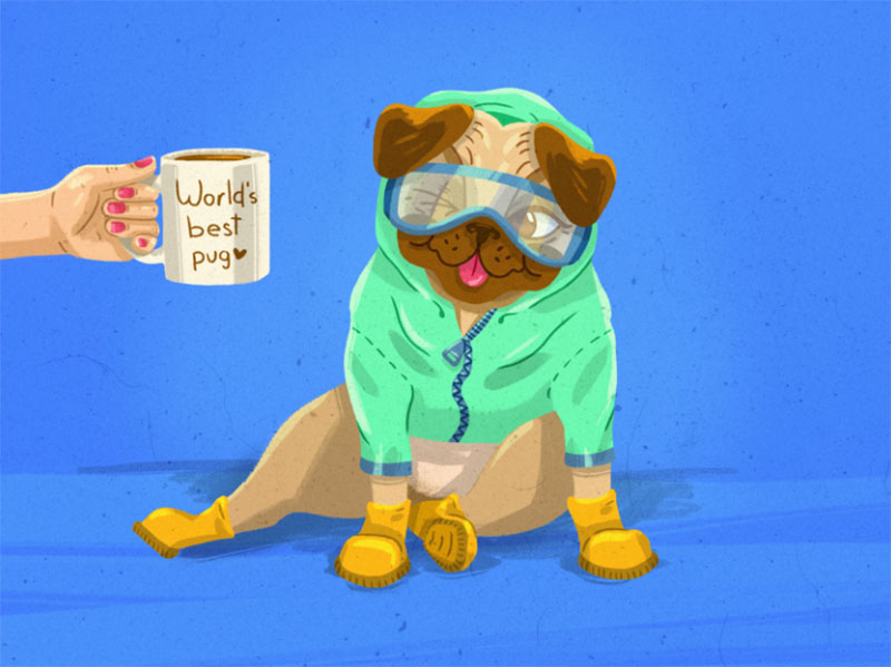 Shout-out-to-Harley-one-eyed Awesome dog illustration images to inspire you