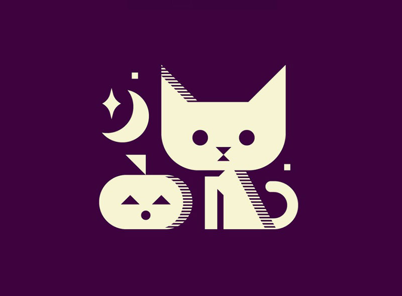 Spooky-Cat Beautiful cat illustration examples to check out