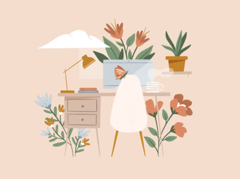 Spring-Fever Dreamy spring illustration examples you must see