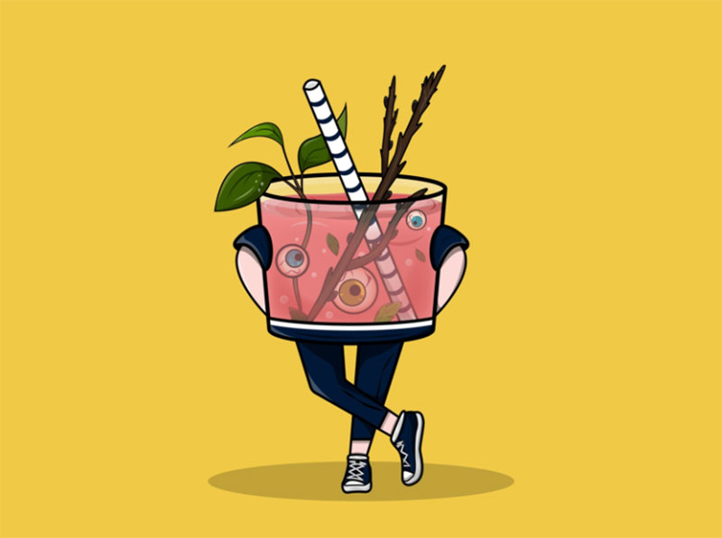 Spring-cocktail-2 Dreamy spring illustration examples you must see
