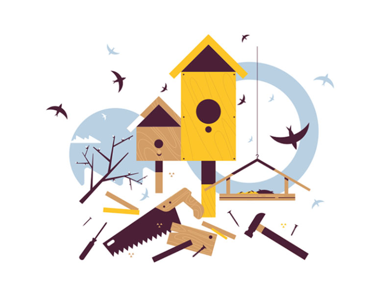 Spring-starling-sitting-on-wooden-birdhouse Dreamy spring illustration examples you must see