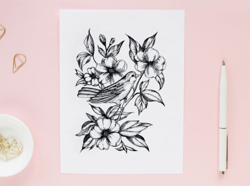 Spring.-Dotwork Dreamy spring illustration examples you must see