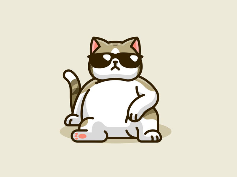 Swag-Cat Beautiful cat illustration examples to check out