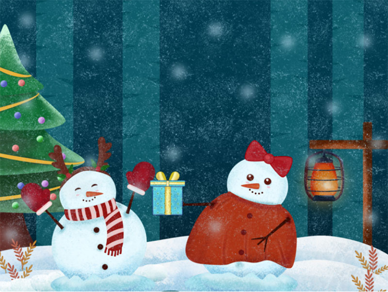 Swapping-Presents Christmas illustration examples that look amazing