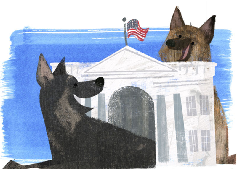 The-first-dogs-to-love-the-mailman Awesome dog illustration images to inspire you