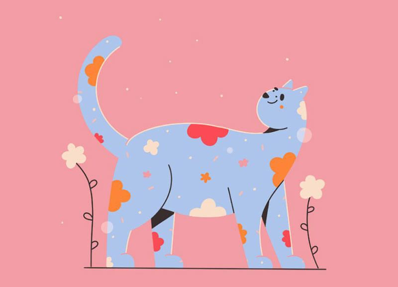Touch-the-sky Beautiful cat illustration examples to check out
