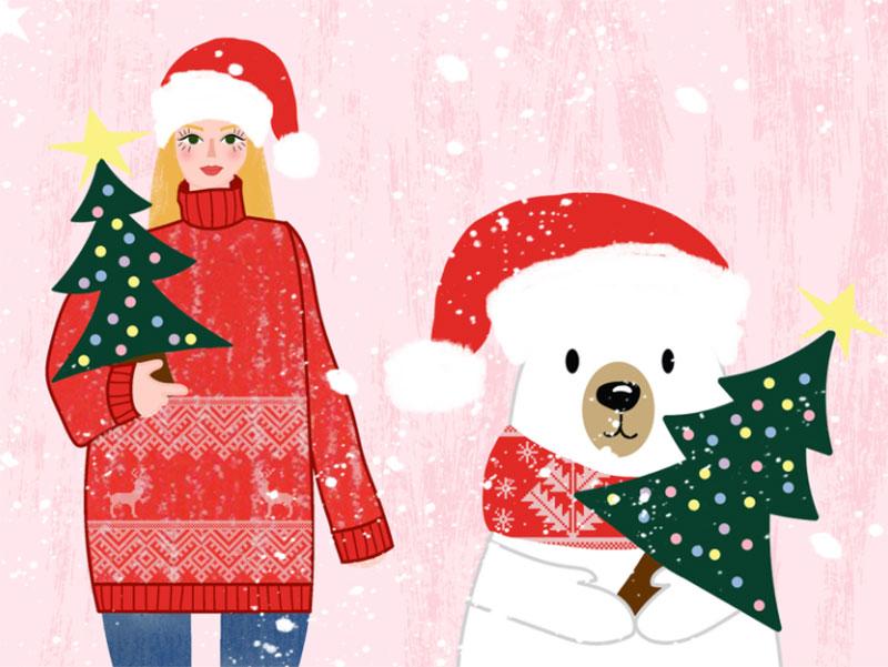 Winter-Wonderland-Details Christmas illustration examples that look amazing
