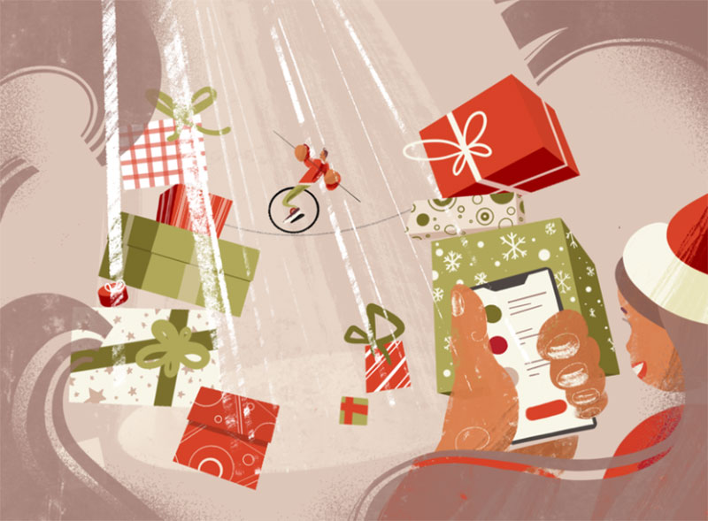 Xmas-Discounts Christmas illustration examples that look amazing