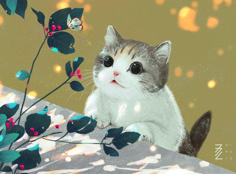 cat1 Beautiful cat illustration examples to check out