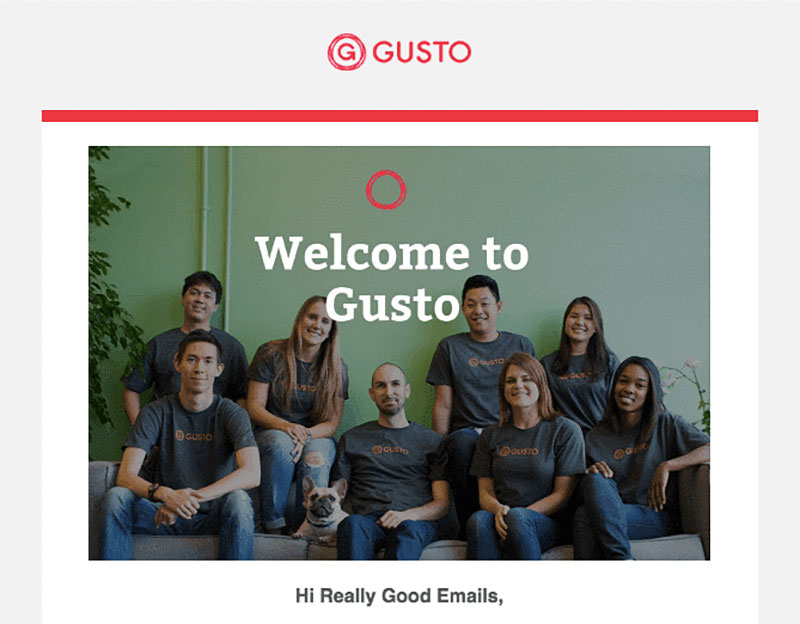 g Top 10 examples of welcome email for SaaS companies