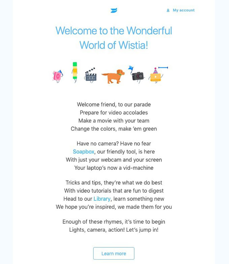 image6 Top 10 examples of welcome email for SaaS companies