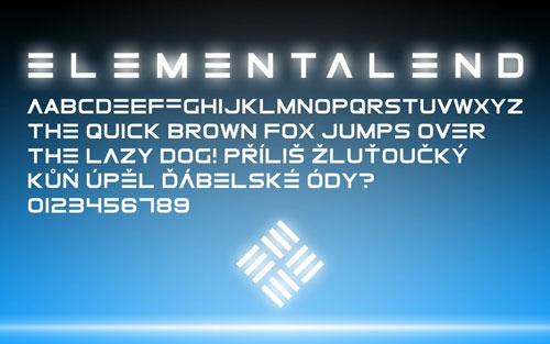 Download ElementalEnd free font