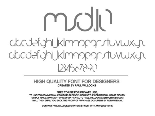Download MSD.10 Typeface free font