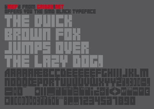Download SMD Black free font