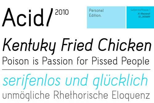 Download Acid free font