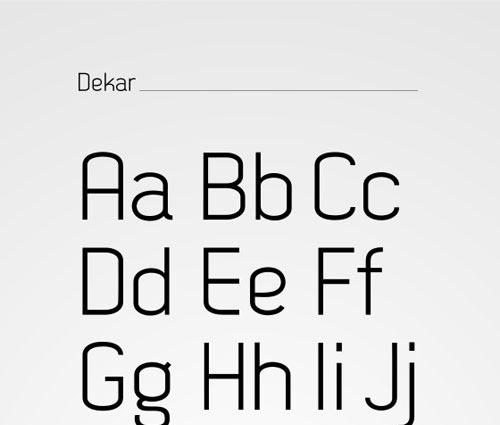 Download dekar free font