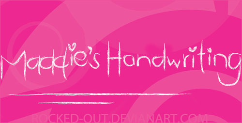 Download Maddie's free font