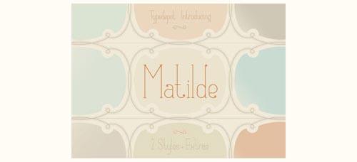 Download Matilde free font