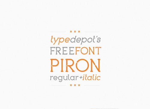 Download Piron free font