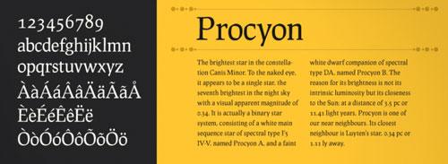 Download prociono free font