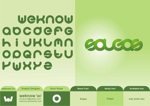 Download solgas free font