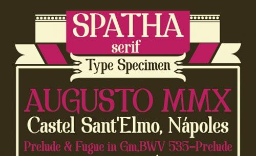 Download Spatha Serif free font