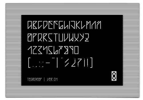 Download teardrop free font