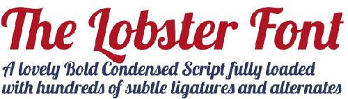 Download lobster free font