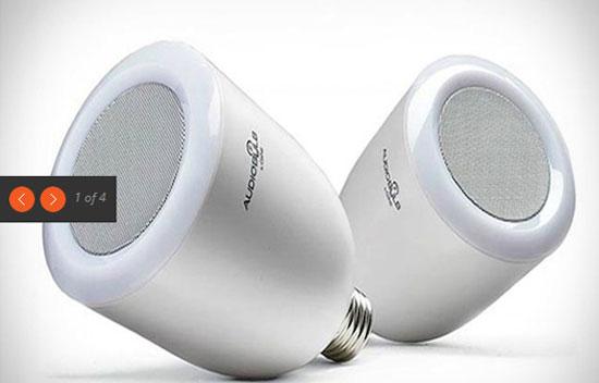 Wireless speaker light bulb