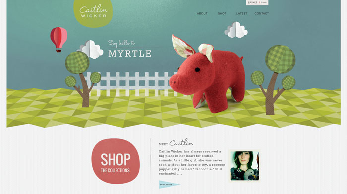 caitlinwicker.com site design