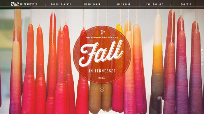 fall.tnvacation.com site design