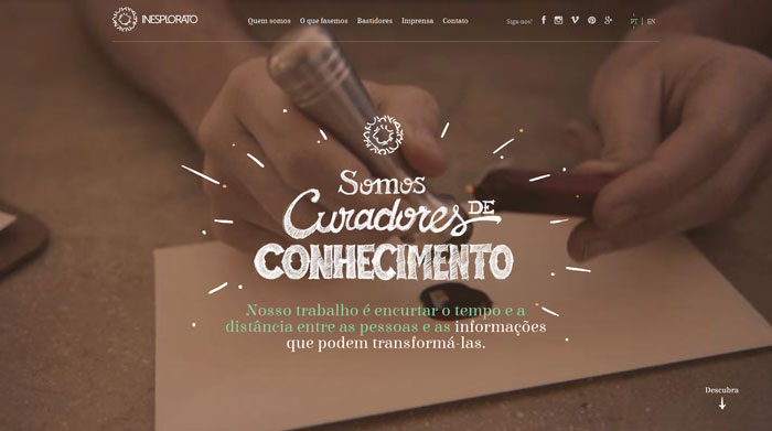 inesplorato.com.br site design