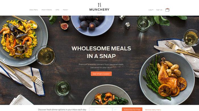 munchery.com site design