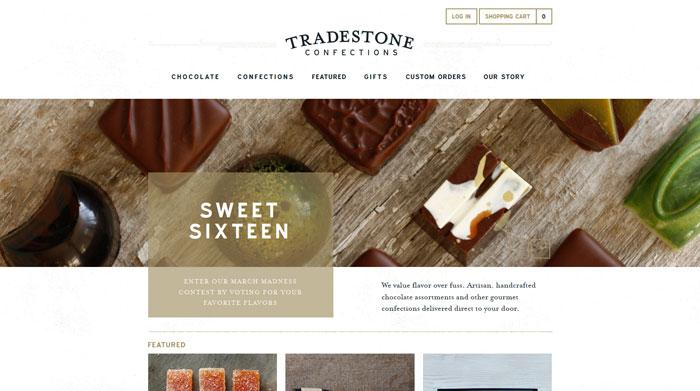 tradestoneconfections.com site design