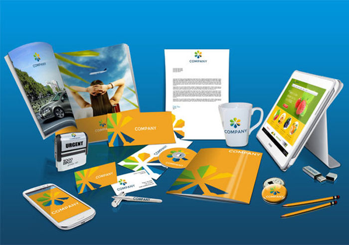 design mockups for branding and identity projects, Powerpoint templates