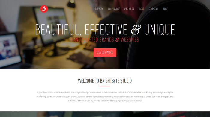 brightbyte clean website design