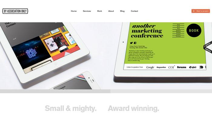 byassociationonly clean website design
