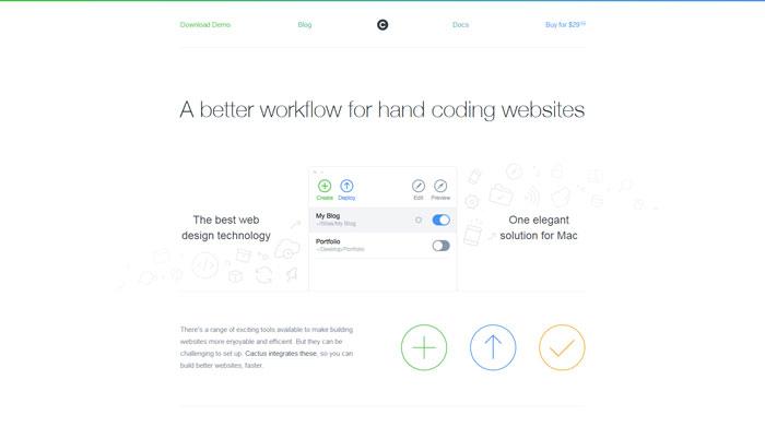 cactusformac clean website design