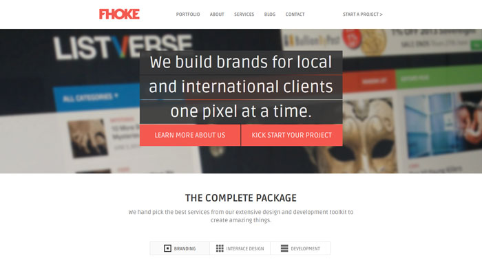 fhoke.com clean website design