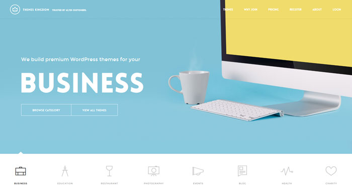 themeskingdom clean website design