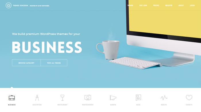 themeskingdom clean website design