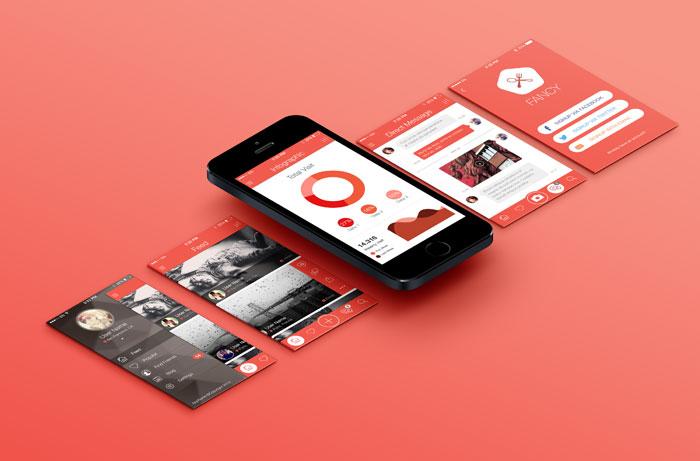 Fancy Mobile App UI KIT