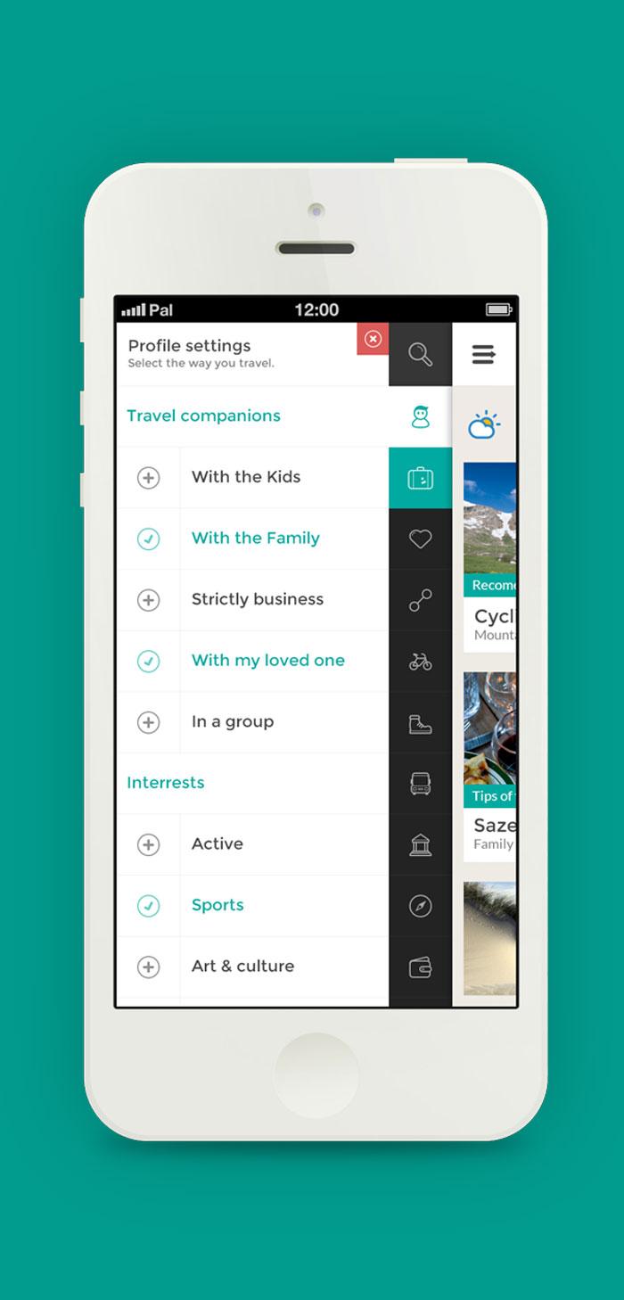 GO TRAVEL - Travel app concept