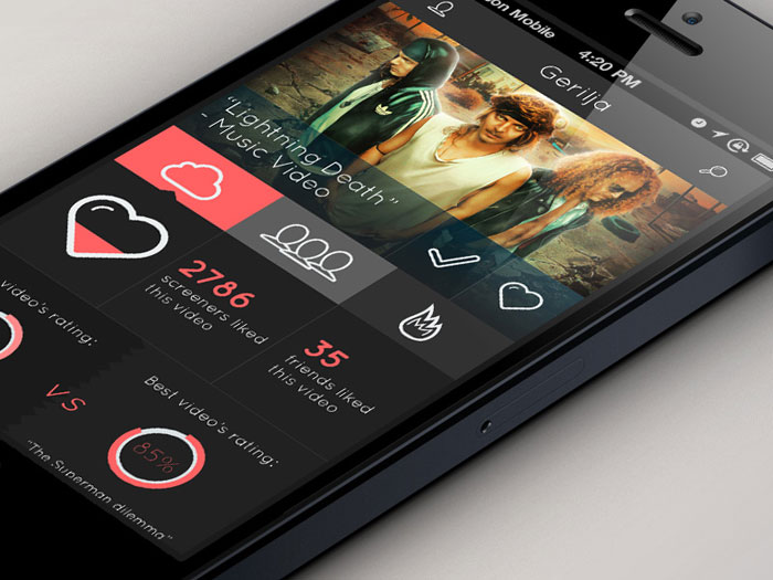 Showcase Of Flat Design In Mobile User Interfaces