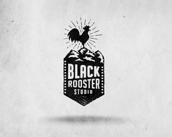 Black Rooster Studio Logo Design