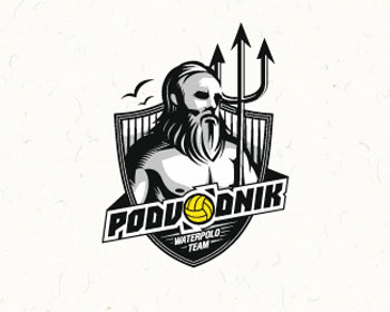 Podvodnik waterpolo team Logo Design
