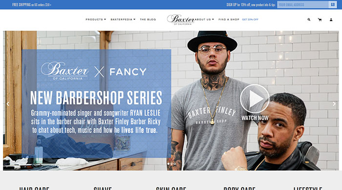 baxterofcalifornia_com 44 Website Header Design Examples and What Makes Them Good