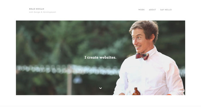 bradhogan_me 44 Website Header Design Examples and What Makes Them Good