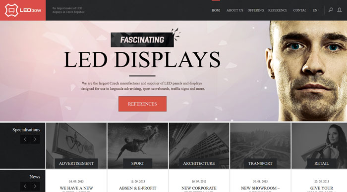 ledbow_cz_home 44 Website Header Design Examples and What Makes Them Good